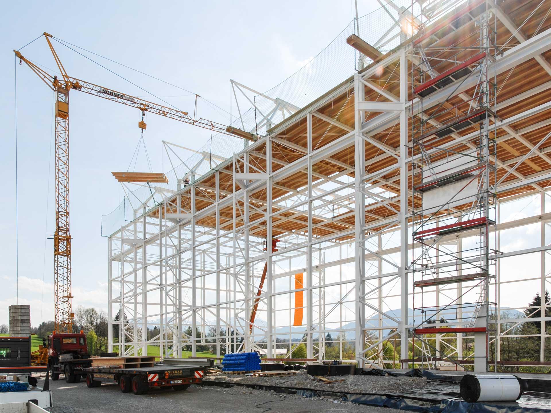 Bauprozess Bergwachthalle Bad Toelz